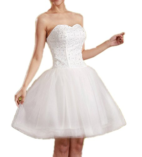 White Dress Ball Gown Homecoming Short Bridal Black Prom Lace 2016 Bodice Aurora Fq7waUF
