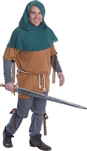 Men Adults Fancy Halloween Dress Party Outfit Little John Robbin Hood Costume ()