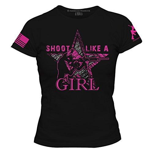 American Warrior Womens Shoot Like A Girl T Shirt