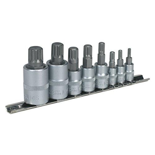 Sealey Spline Socket Bit Set 8Pc 1/4
