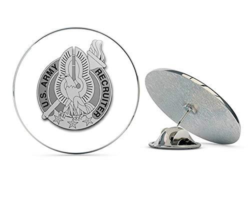 Veteran Pins US Army Recruiter Gray Badge Metal 0.75