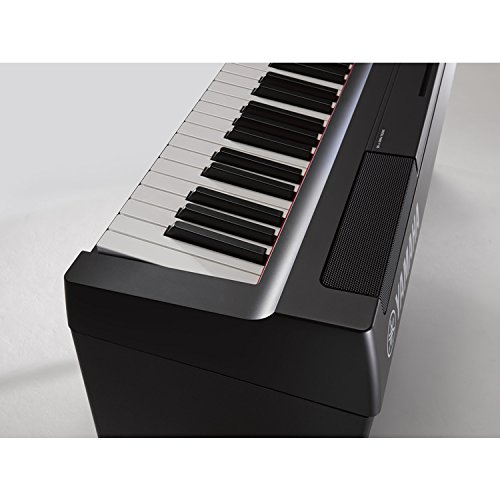 Yamaha P125B 88-Key Weighted Action Digital Piano with Sustain Pedal, Power Supply, Double-Braced X-Style Keyboard Stand, and Padded X-Style Piano Bench by Yamaha Genesis (Image #4)