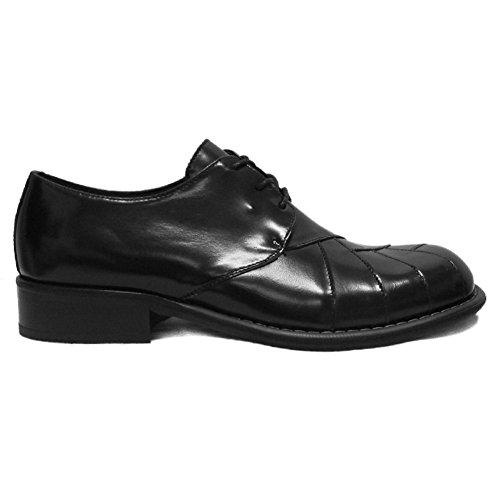 Ikon Mens Original Black Zodiac Mod Northern Soul 60's 70's Leather Shoe 7-12 Black bD7Mb