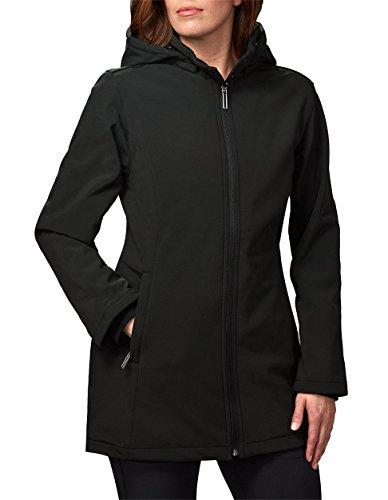 SCOTTeVEST Penny Raincoat, Rain Jacket Women, Spring Travel Coat 19 Pockets (BLK M3) ()