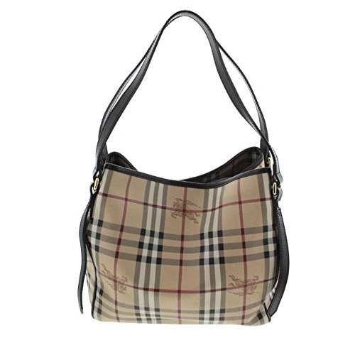 Burberry Haymarket Small Canterbury Tote in Chocolate/Check