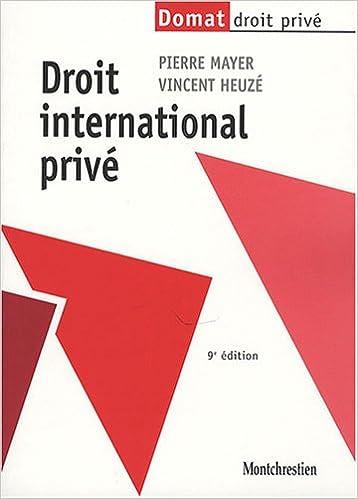 Livre gratuits en ligne Droit international privé epub, pdf