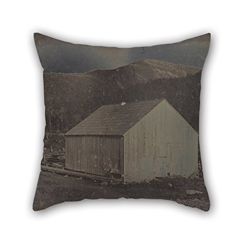 Pillow Shams Of Oil Painting Dr. Samuel A. Bemis (American - View Of A Barn In New Hampshire For Wedding Outdoor Seat Gf Dining Room Kids Boys 20 X 20 Inches / 50 By 50 Cm(both Sides)