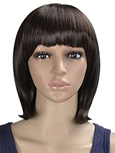 Ladies Black Brown Sexy Short Natural Hair Bob Wig