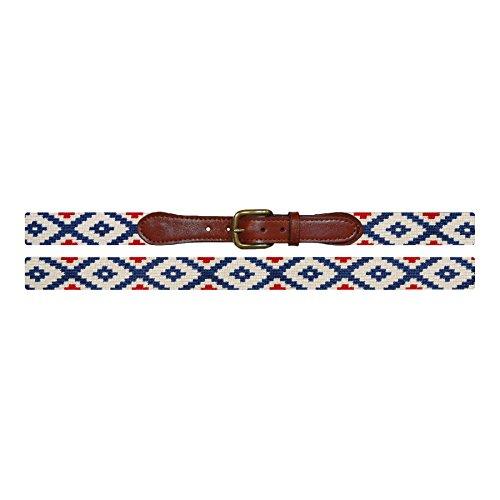 Smathers & Branson Gaucho Rojo Hand-Sewn Needlepoint Belt (Multi) (B-293-42) -