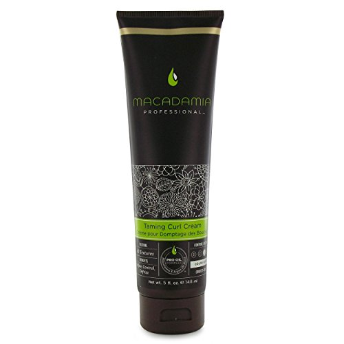 Macadamia Professional Taming Curl Cream - 5 oz. - Medium to Coiled Hair Textures - Defines & Defrizzes - Sulfate, Gluten & Paraben Free, Safe for Color-Treated Hair
