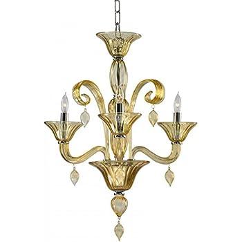Amazon.com: Treviso 3 luz opaco blanco estilo lámpara de ...