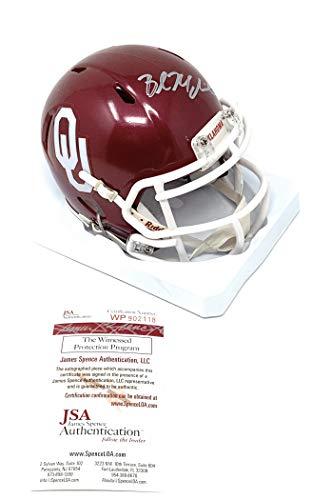 Baker Mayfield Oklahoma Sooners Signed Autograph Speed Mini Helmet JSA Witnessed Certified