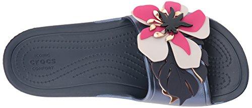 Slide Flower Navy Botanical Sloane Crocs q6B0wP0