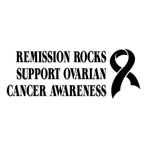 PressFans - Remission Rocks Support Ovarian Cancer Awareness Cancer Awareness Car Laptop Sticker Decal