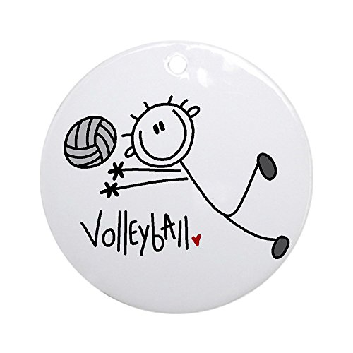 CafePress Stick Figure Volleyball Ornament (Round) Round Holiday Christmas Ornament