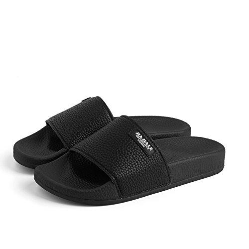 soggiorno casual 42 Elegante e donna antiscivolo piatto solidi calzature pantofole fankou coppie colori nero uomini pantofole fondo con con minimalista 8vRwRAqU