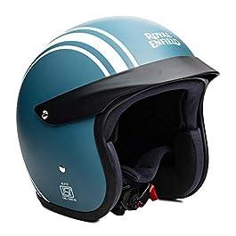 Royal Enfield ABS Open Face Peak Helmet (Matt Squadron Blue, Large |RRGHEN000080)