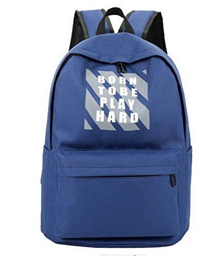 Sacs à sacs bandoulière Dacron Femme AllhqFashion Tourisme Des Weekender École Foncé Bleu wZaWq80