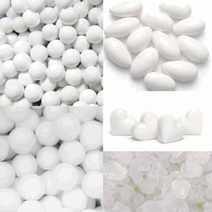 Unwrapped Bulk Candy (White Candy Buffet Assortment - Unwrapped Candy)