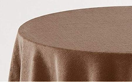 HIPERMANTA Falda Mesa Camilla Redonda Lisa Tacto Suave 100% Poliéster. Tamaño diámetro 100 cm - 243 cm, Camel.: Amazon.es: Hogar