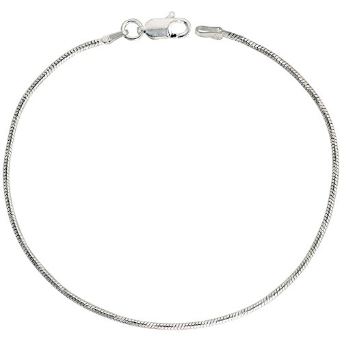 Sterling Silver Snake Chain Necklace 1.4mm Spiral Diamond Cut Finish Nickel Free Italy, 30 inch