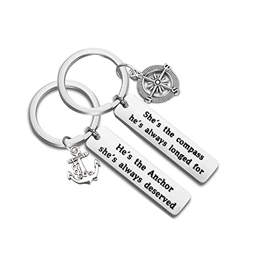 MAOFAED Anchor Compass Keychain (Anchor Compass KR)