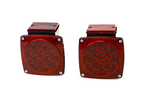MaxxHaul 70460 12V LED Trailer Tail Lights (Turn/Stop/Signal-Left/Right-DOT Compliant)