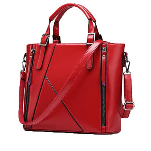 BAILIANG PU à Sac à Main Sac Bandoulière Stitching Crossbody Womens Mode Winered r5wq7r