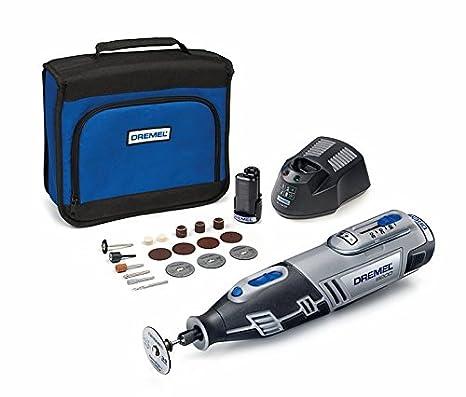 Dremel 8200-20 - Multiherramienta inalámbrica (10,8 V, 2,0 Ah, incluye batería y cargador, 20 accesorios y funda)