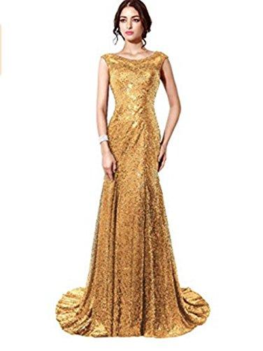 Pailletten kleider lang gold