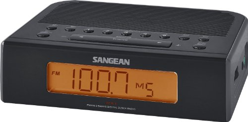 Sangean RCR-5BK Digital AM/FM Clock Radio (Black)