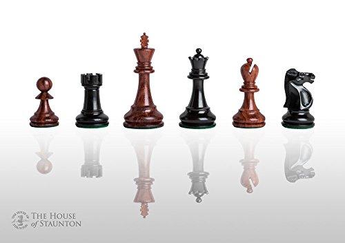 Chess Ebonized (The House of Staunton - The Reykjavik Elite Chess Set - Pieces Only - 3.75