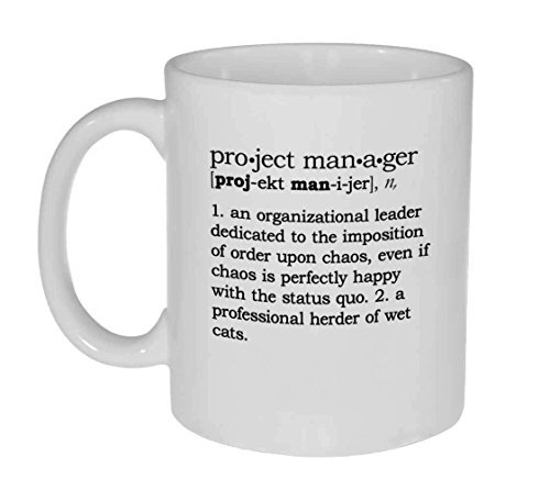 Project Manager Definition Funny Coffee or Tea Mug
