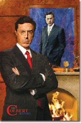 Colbert Report Stephen Political Satire TV Poster 22.5 x 34 inches