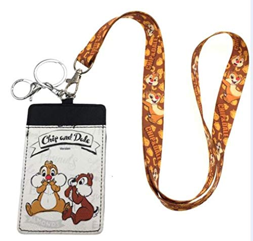 Chip and Dale Lanyard with ID Holder Keychain