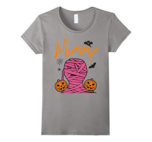 [Womens Mummy Deady Cute Sexy Couples Costume T-shirt Medium Slate] (Last Minute Halloween Costumes Couples)