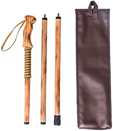FOREST PILOT 3 Piece Walking Stick Wooden Handle with a Compass Nature Color, 55 Inches, 1 Piece
