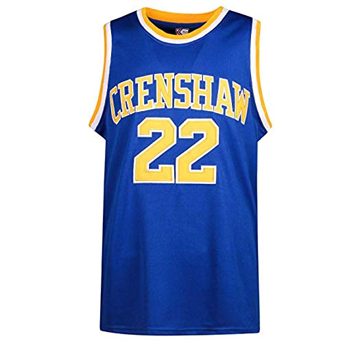 oldtimetown McCall 22 Crenshaw Basketball Jersey S-XXXL Blue, 90S Hip Hop Clothing for Party, 2-Layer Stitched Letters and Numbers