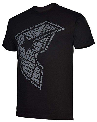 Famous Stars and Straps Mens Big F T-Shirt-Black/Gray-2XL
