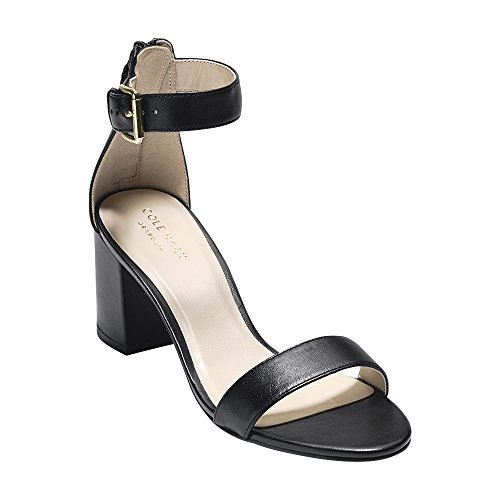 Cole Haan Womens clarette Sandal 65mm 9.5 Black Leather