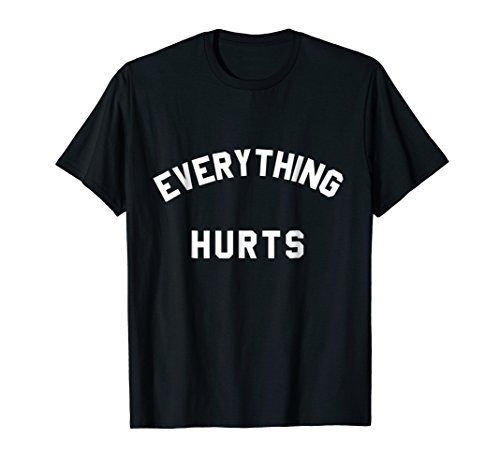 Mens Everything Hurts Workout T-Shirt XL Black