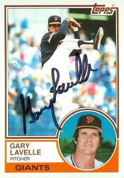Autograph Warehouse 76995 Gary Lavelle Autographed Baseball Card San Francisco Giants 1983 Topps No .791 Gary Lavelle Autographs