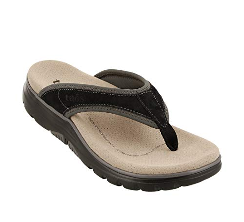 - Taos Footwear Women's Aura Black/Grey Sandal 7 M US