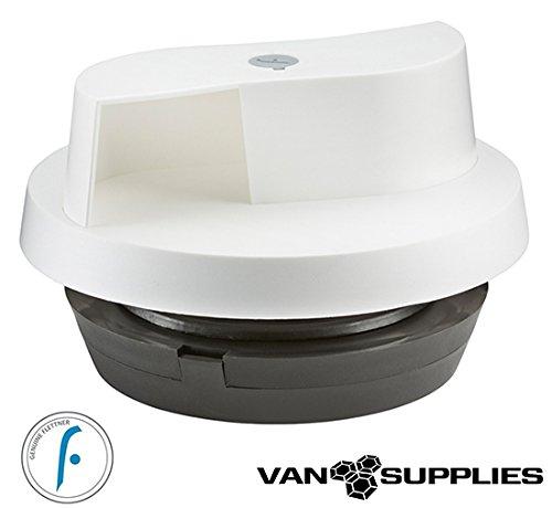 Flettner 2000 Van Wind Driven Rotating Roof Vent - White - Horsebox 4x4 Pickup