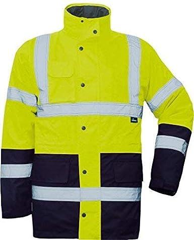 5XL Vizwell Premium Warnschutzparka 2in1 orange-Marine oder gelb-Marine Gr.S