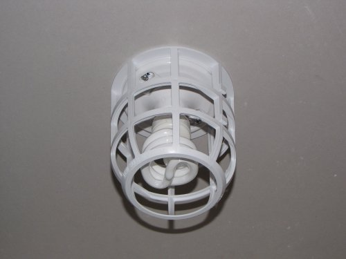 LightCage Light Bulb Safety Cage (1 ea) - Contractor Grade - Metal Plastic Cage