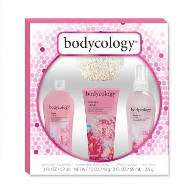 Bodycology Sweet Love Gift Set With Pouf