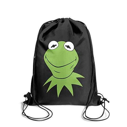 LKUIOJ Green Smile Frog Novelty Drawstring Bags Tote Sack Travel Storage