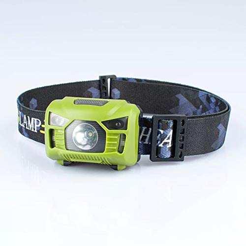 LED Linterna Frontal USB Recargable 5 Modos Lampára de Cabeza Luz Super Brillante 360 Grados Ajustables para Camping, Pesca, Ciclismo, Correr, Deporte Nocturno Carriea