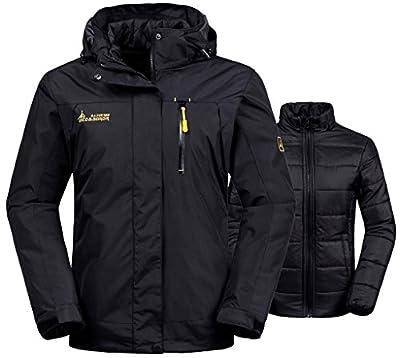 Wantdo Women's 3-in-1 Waterproof Ski Jacket Windproof Puff Liner Winter Coat